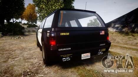 GTA V Declasse Granger LSP [ELS] Slicktop für GTA 4 hinten links Ansicht