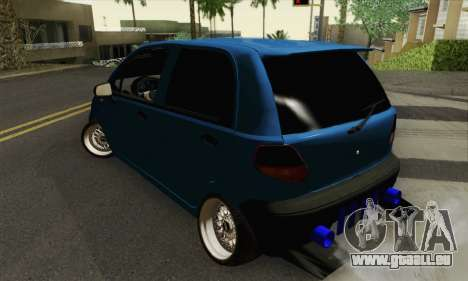 Daewoo Matiz Tuned pour GTA San Andreas laissé vue