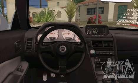 Nissan Skyline R-34 SDK Style pour GTA San Andreas sur la vue arrière gauche