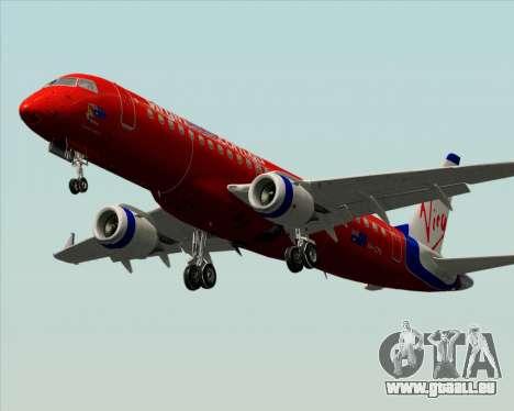 Embraer E-190 Virgin Blue pour GTA San Andreas vue de côté