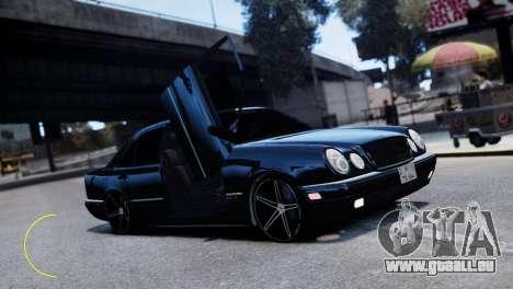 Mercedes-Benz E55 AMG für GTA 4 Rückansicht