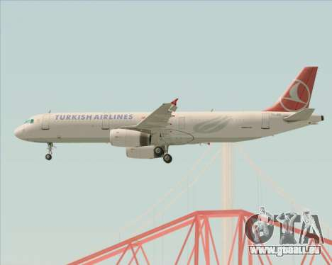 Airbus A321-200 Turkish Airlines pour GTA San Andreas moteur