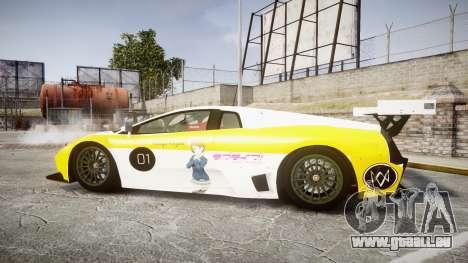 Lamborghini Murcielago GT1 Hanayo Koizumi pour GTA 4 est une gauche