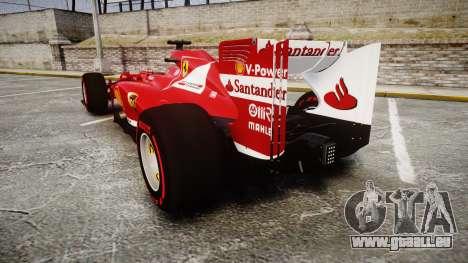 Ferrari F138 v2.0 [RIV] Alonso TSSD für GTA 4 hinten links Ansicht