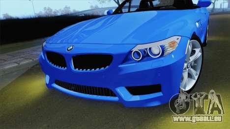 BMW Z4 sDrive28i 2012 Stock für GTA San Andreas rechten Ansicht