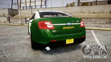 Ford Taurus 2014 Liberty City Sheriff [ELS] pour GTA 4 Vue arrière de la gauche