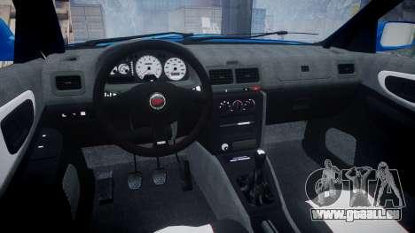 Subaru Impreza WRC 1998 SA Competio v3.0 pour GTA 4 Vue arrière