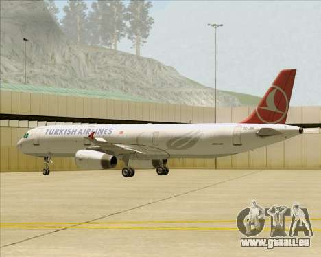 Airbus A321-200 Turkish Airlines pour GTA San Andreas roue