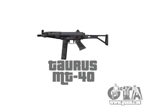 Pistole Taurus MT-40 buttstock2 icon2 für GTA 4 dritte Screenshot