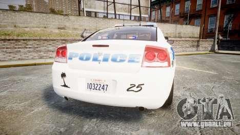 Dodge Charger 2010 PS Police [ELS] pour GTA 4 Vue arrière de la gauche