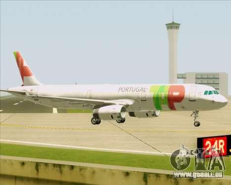 Airbus A321-200 TAP Portugal für GTA San Andreas zurück linke Ansicht