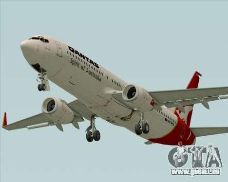 Boeing 737-838 Qantas (Old Colors) pour GTA San Andreas vue intérieure