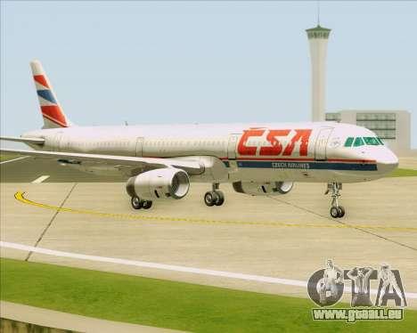 Airbus A321-200 CSA Czech Airlines für GTA San Andreas zurück linke Ansicht