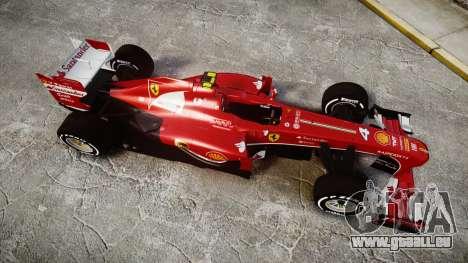 Ferrari F138 v2.0 [RIV] Massa TMD für GTA 4 rechte Ansicht