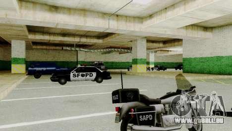 Véhicules neufs en SFPD pour GTA San Andreas troisième écran