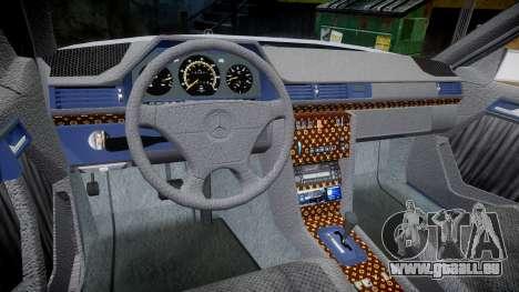 Mercedes-Benz E500 1998 Tuned Wheel White pour GTA 4 Vue arrière