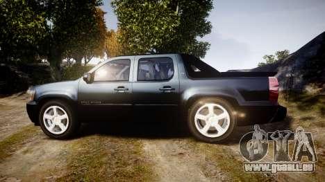 Chevrolet Avalanche 2008 Undercover [ELS] pour GTA 4 est une gauche