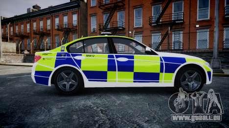 BMW 335i 2013 Central Motorway Police [ELS] für GTA 4 linke Ansicht