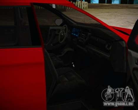 Bravado Gresley pour GTA San Andreas sur la vue arrière gauche