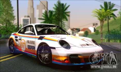Porsche 997 Turbo Tunable pour GTA San Andreas vue de dessous