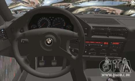 BMW M5 E34 V10 pour GTA San Andreas sur la vue arrière gauche