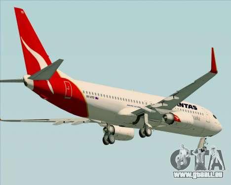 Boeing 737-838 Qantas (Old Colors) pour GTA San Andreas vue de dessous