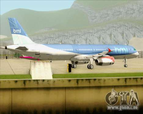 Airbus A321-200 British Midland International pour GTA San Andreas vue arrière