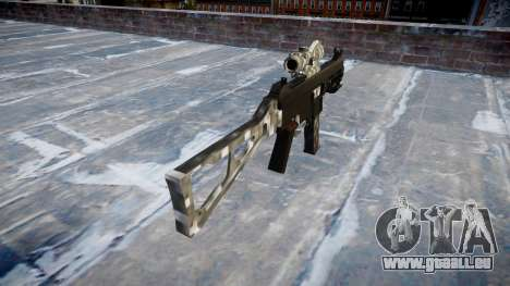 Gun UMP45 Carbon Fiber für GTA 4 Sekunden Bildschirm