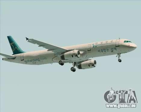 Airbus A321-200 Hansung Airlines für GTA San Andreas Rückansicht