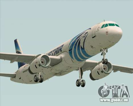 Airbus A321-200 EgyptAir für GTA San Andreas linke Ansicht