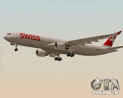 Airbus A330-300X Swiss International Air Lines pour GTA San Andreas sur la vue arrière gauche