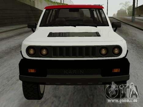 Karin BJ XL pour GTA San Andreas sur la vue arrière gauche