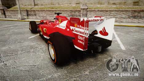 Ferrari F138 v2.0 [RIV] Alonso THD pour GTA 4 Vue arrière de la gauche