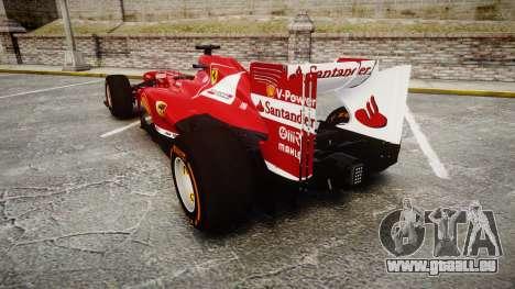 Ferrari F138 v2.0 [RIV] Alonso THD für GTA 4 hinten links Ansicht