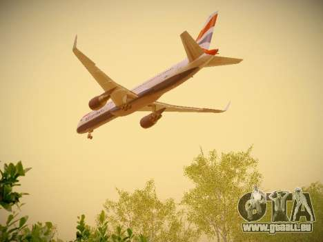 Boeing 757-236 British Airways für GTA San Andreas Seitenansicht
