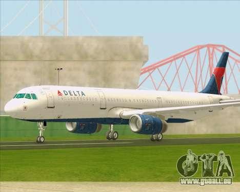 Airbus A321-200 Delta Air Lines pour GTA San Andreas vue intérieure