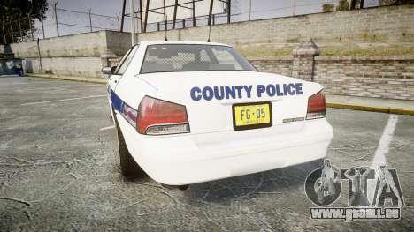GTA V Vapid Cruiser LP [ELS] Slicktop pour GTA 4 Vue arrière de la gauche