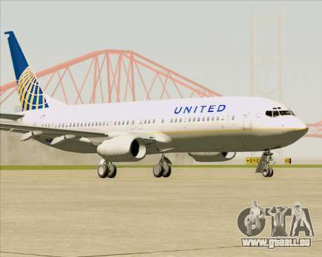 Boeing 737-824 United Airlines für GTA San Andreas linke Ansicht