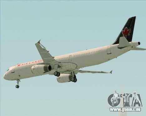 Airbus A321-200 Air Canada für GTA San Andreas obere Ansicht