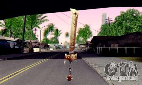 Меч (World Of Warcraft) pour GTA San Andreas deuxième écran