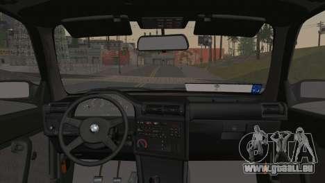 BMW M3 E30 Coupe 1987 für GTA San Andreas zurück linke Ansicht