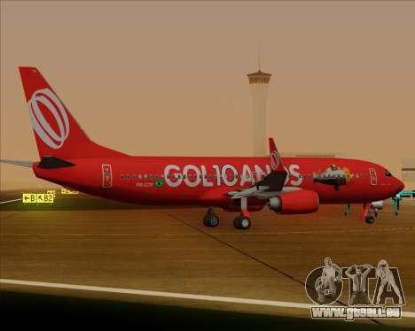Boeing 737-800 Gol Transportes Aéreos für GTA San Andreas Rückansicht