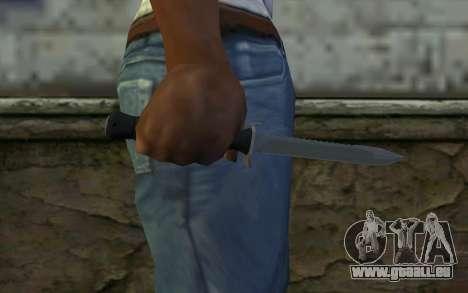 Couteau de Combat (DayZ Standalone) v2 pour GTA San Andreas troisième écran