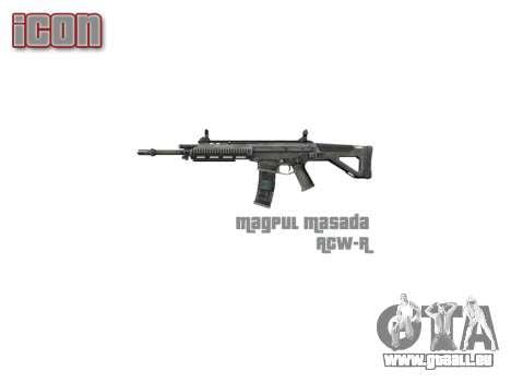 Machine Magpul Masada ACW-R icon3 pour GTA 4 troisième écran
