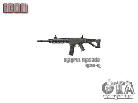 Maschine Magpul Masada ACW-R icon3 für GTA 4 dritte Screenshot