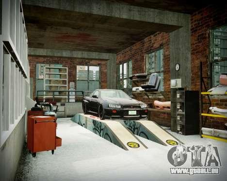 Garage avec de nouveaux intérieur Alcaline pour GTA 4 dixièmes d'écran