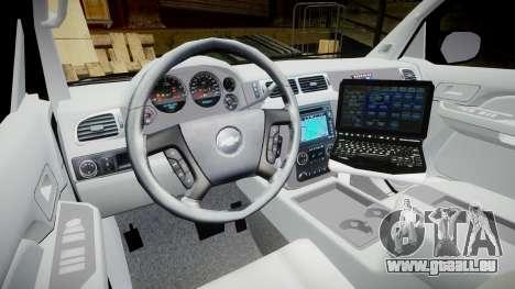 Chevrolet Avalanche 2008 Undercover [ELS] für GTA 4 Rückansicht