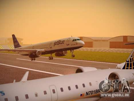 Airbus A321-232 jetBlue Blue Kid in the Town pour GTA San Andreas laissé vue