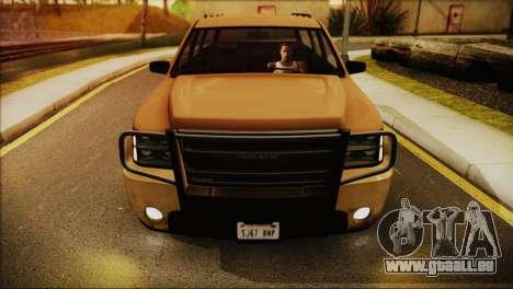 GTA 5 Granger für GTA San Andreas zurück linke Ansicht
