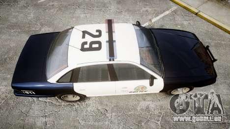 Vapid Police Cruiser GTA V LED [ELS] pour GTA 4 est un droit